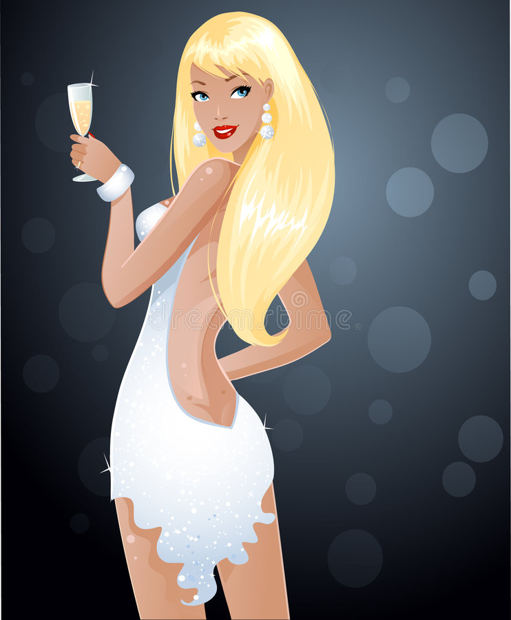 Sexy blondie stock illustratie