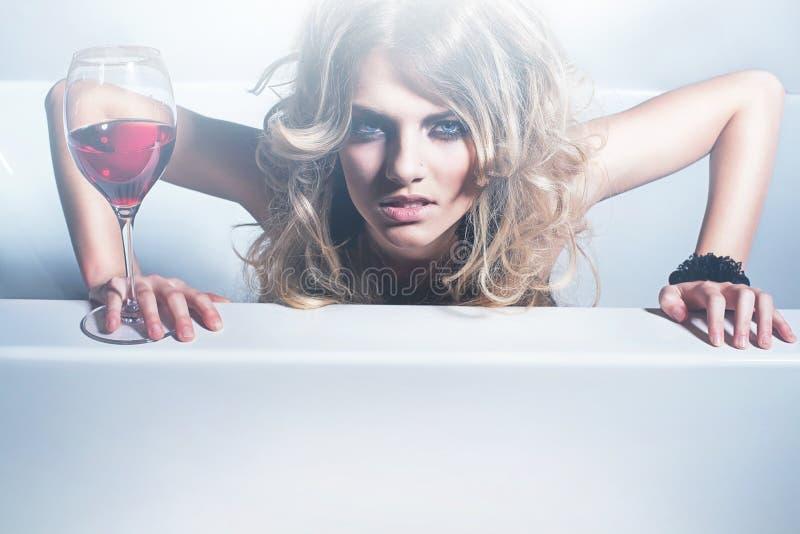 Sexy Blondine lizenzfreie stockfotos