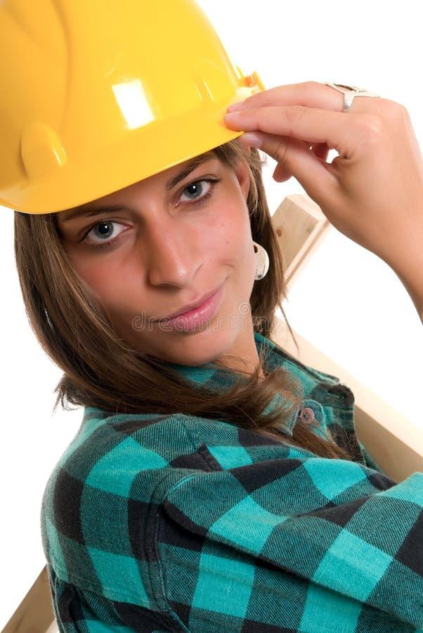 Sexy bouwdame stock fotografie