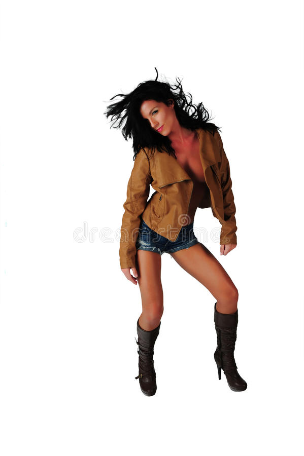 Download Brunette In Cut Off Shorts Royalty Free Stock Photo - Image: 21227575