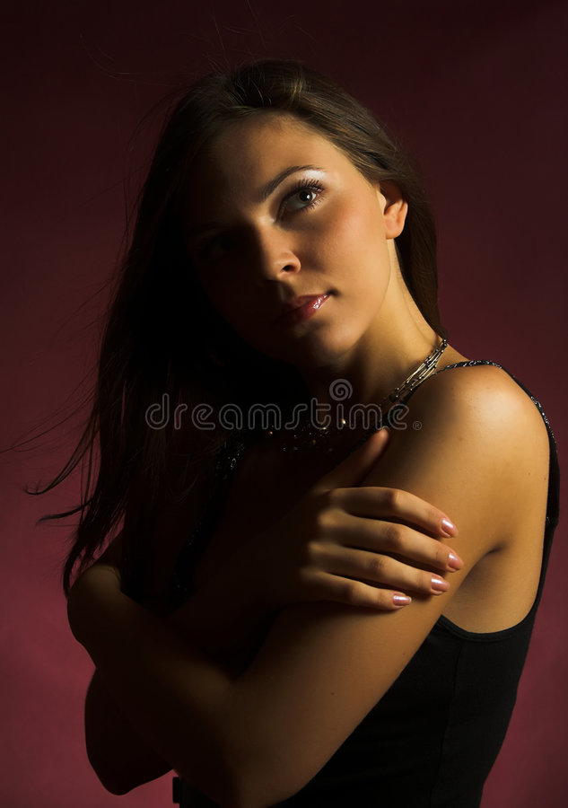 Download Brunette girl stock photo. Image of lovely, close, closeup - 2305400