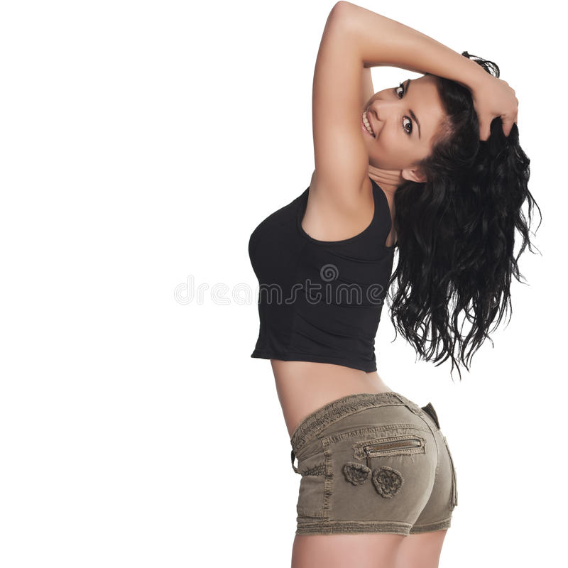 Download Brunette woman stock photo. Image of cellulite, long - 25239598