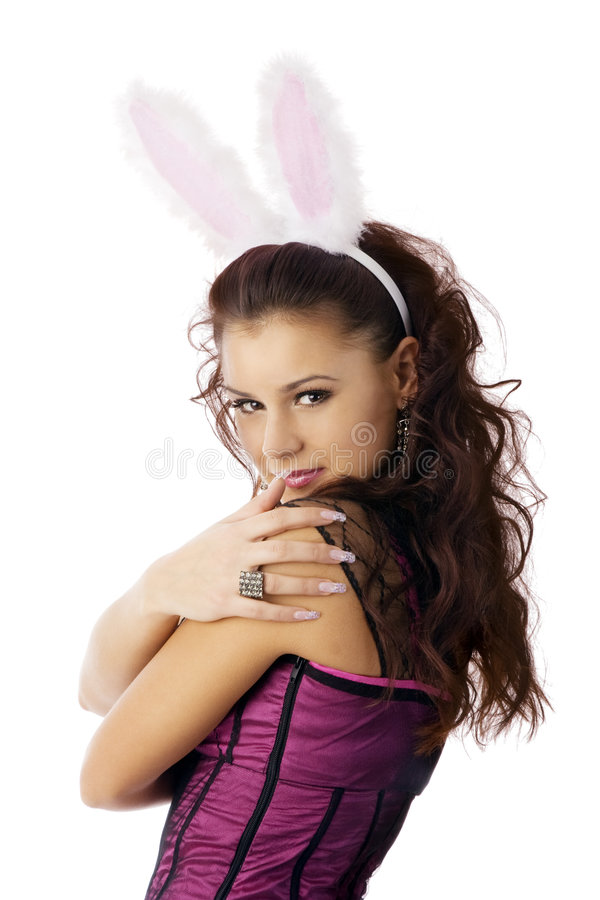 Download Bunny girl stock photo. Image of color, gift, naughty - 6335090