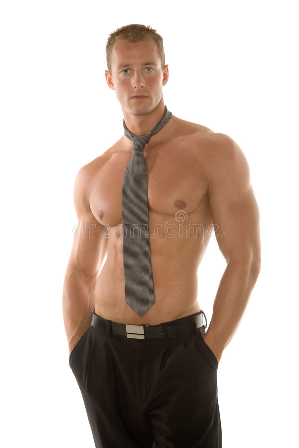 Business man. Man in pants and tie