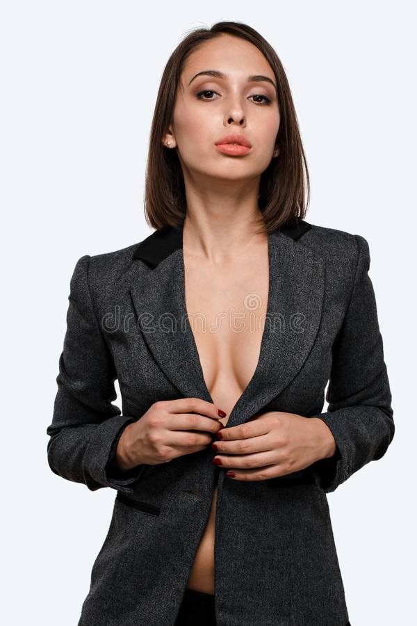 Businesswoman On Working Place With Laptop Computer Stock