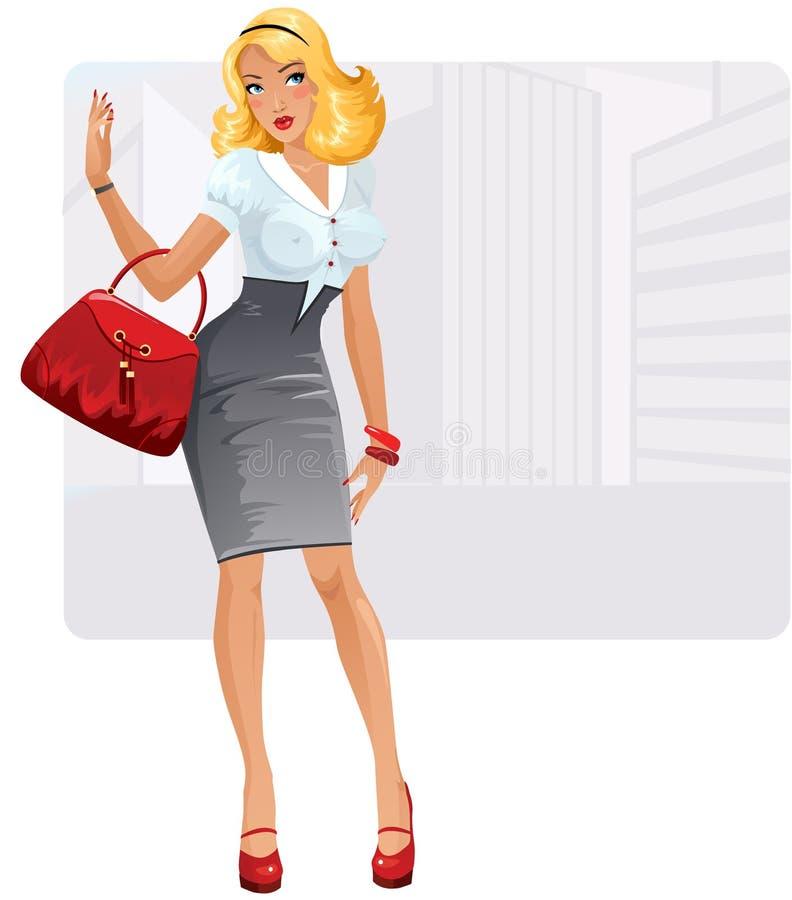 Sexy businesslady stock illustratie