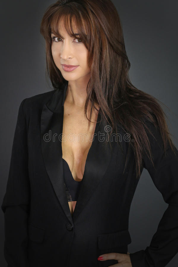 businesswoman wearing a suit royalty free stock images