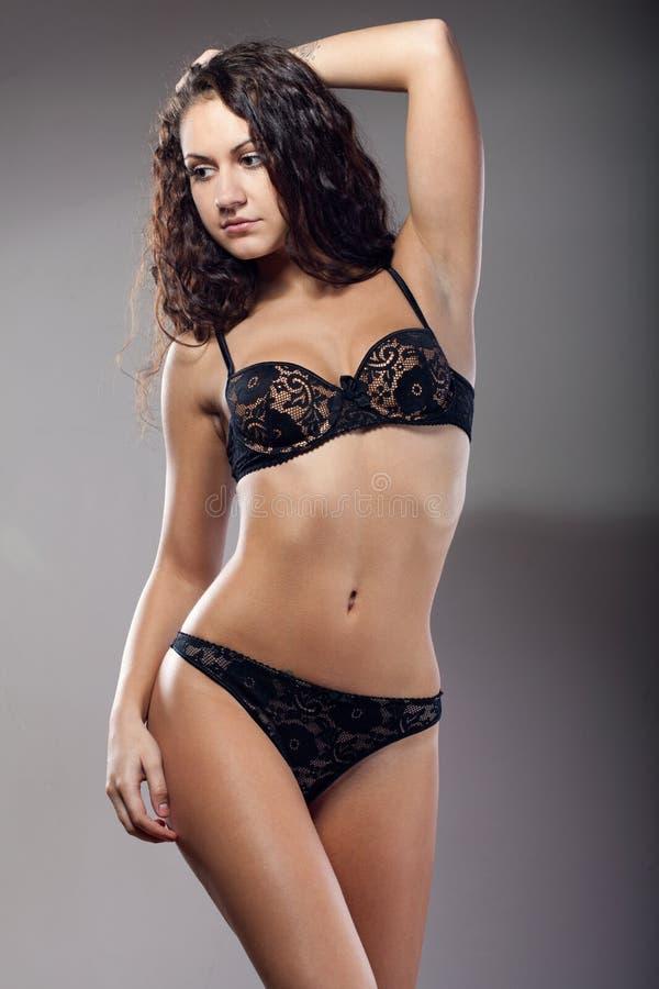 Girls. In underwear stock images