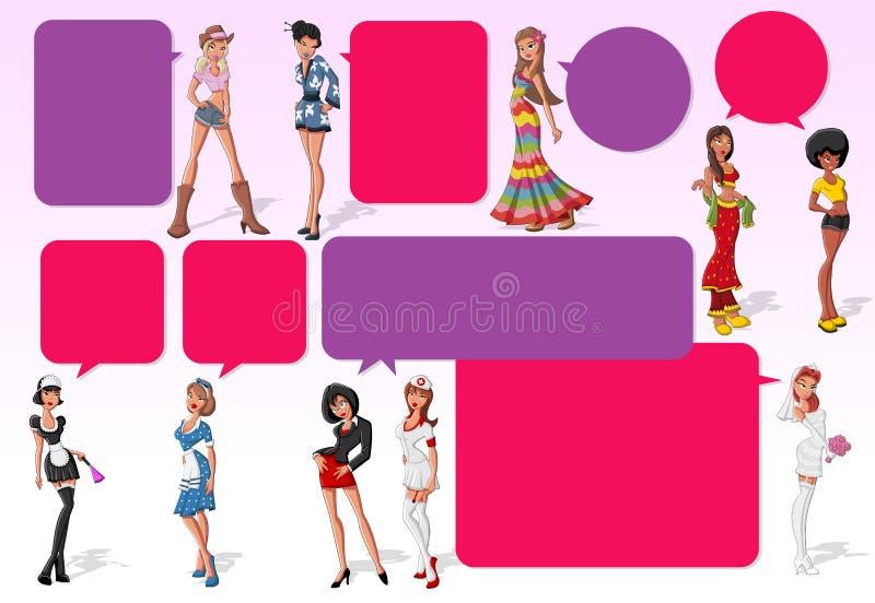 Download Cartoon girls stock vector. Image of cowgirl, heel, halloween - 27590023