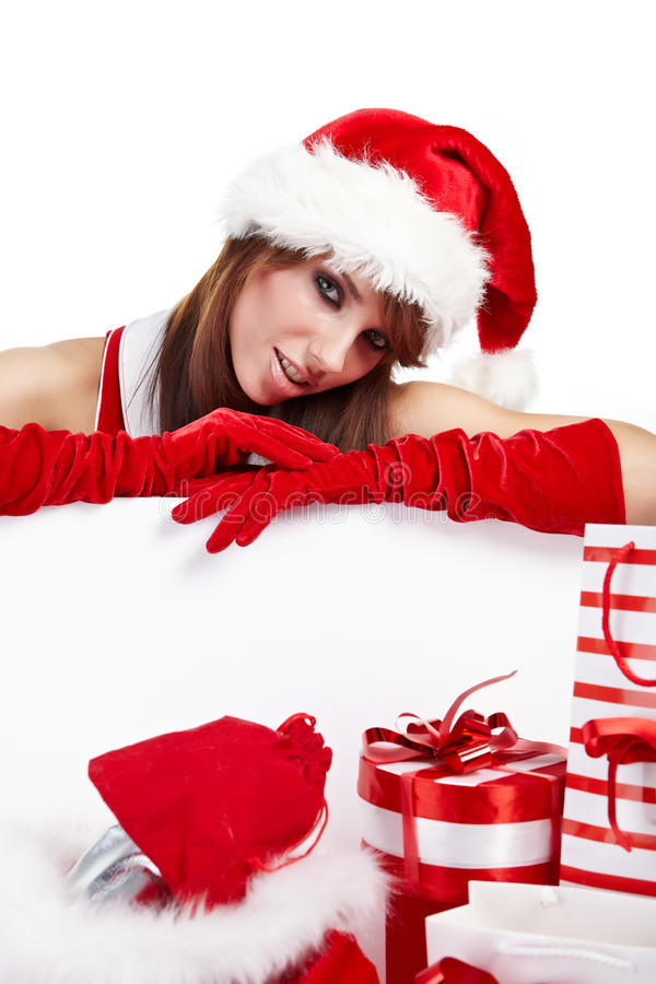 Download Christmas girl stock image. Image of cloath, gift, gloves - 16402117