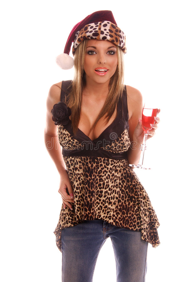 Christmas Party Girl stock images
