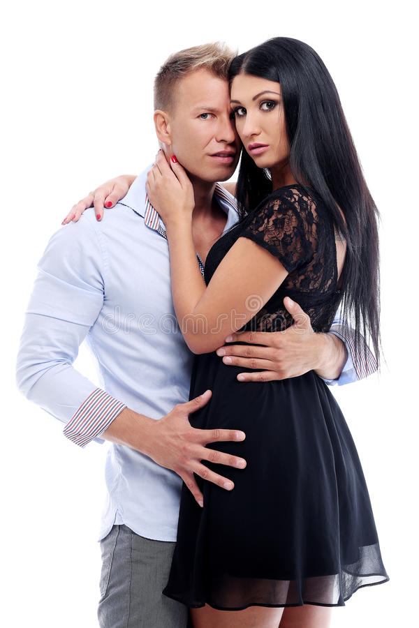 Couple Having A Photo Session In Studio Stock Photos