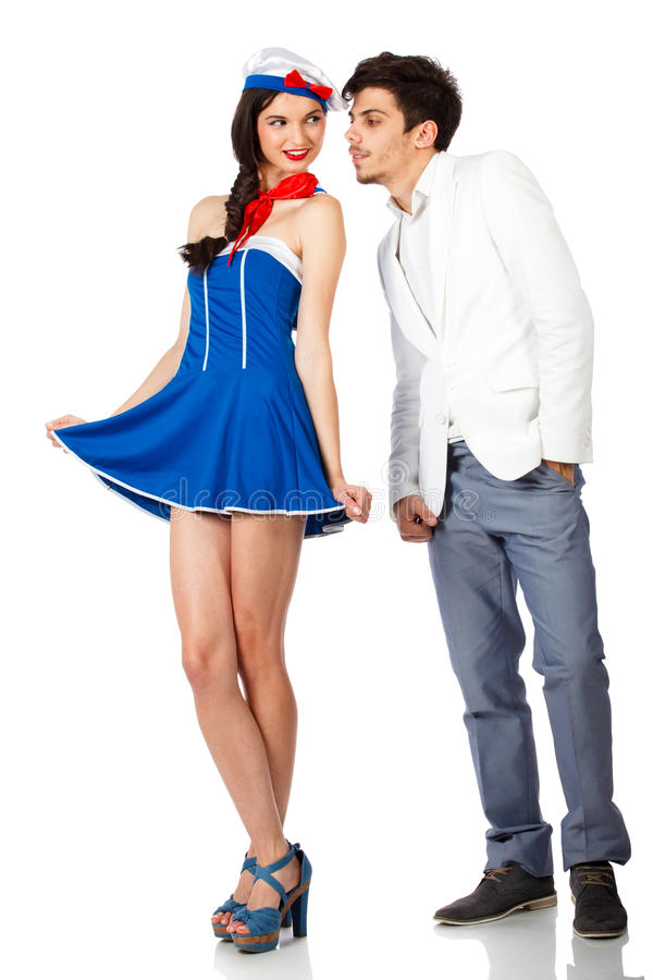 Download Cute Sailor Woman And Elegant Man Stock Image - Image: 23420433