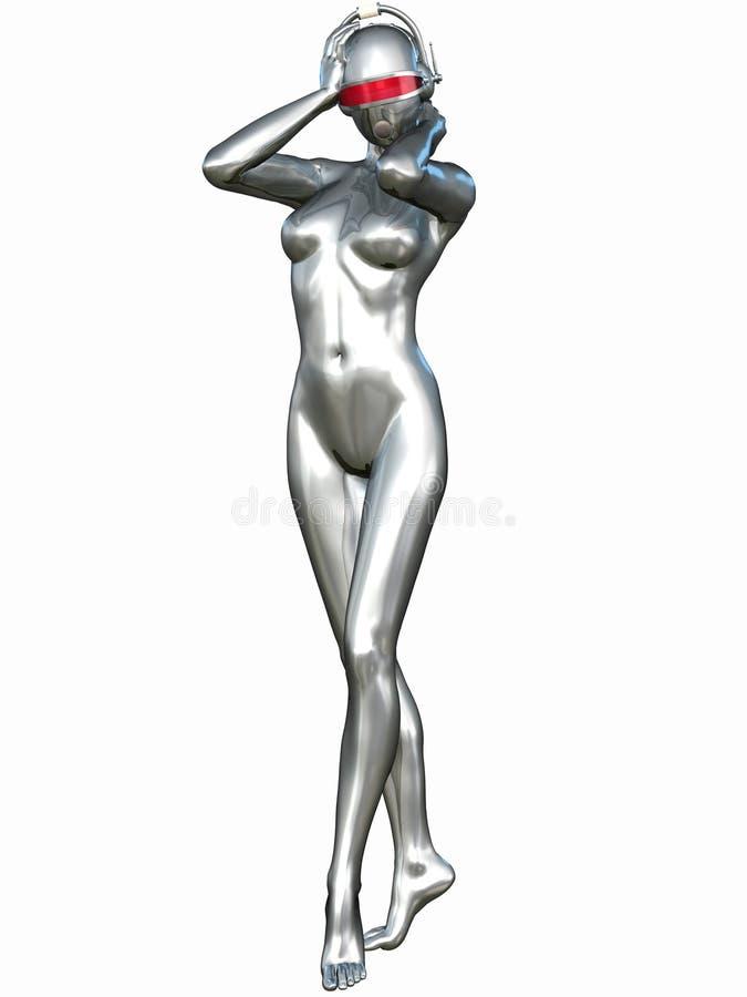 Sexy Cyborg vector illustratie