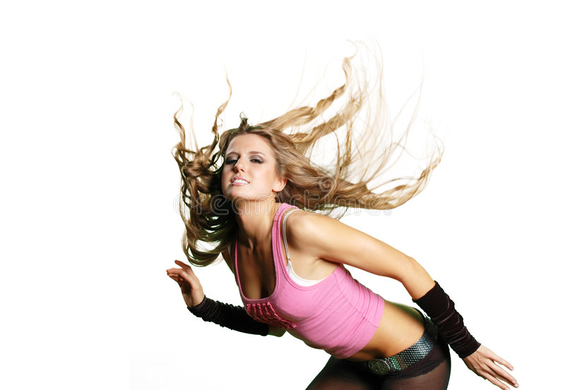 Sexy dansersmeisje stock afbeelding