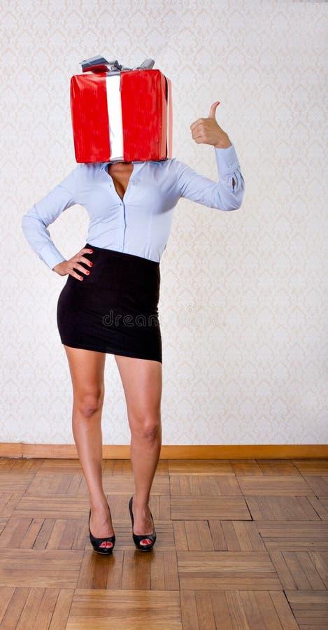 Sexy de dooscelebartion van de vrouwengift royalty-vrije stock afbeelding