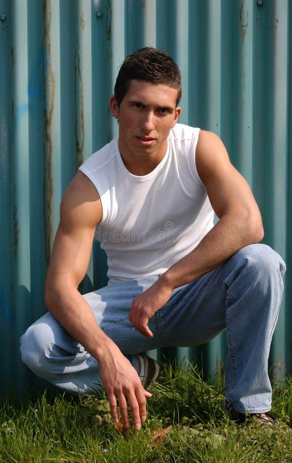 sexy di modello maschio fotografie stock libere da diritti
