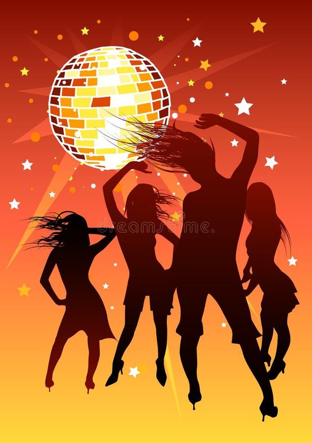 Disco Girls royalty free illustration