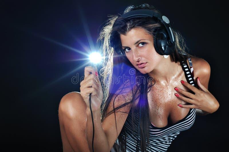 Sexy DJ stock afbeelding