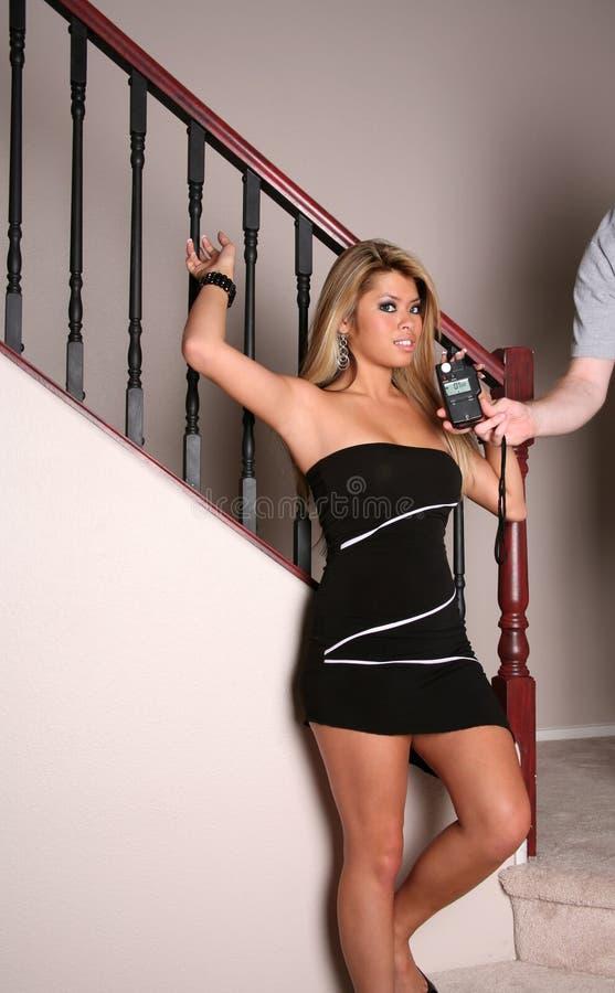 Sexy donkerbruine vrouw 31 royalty-vrije stock foto's