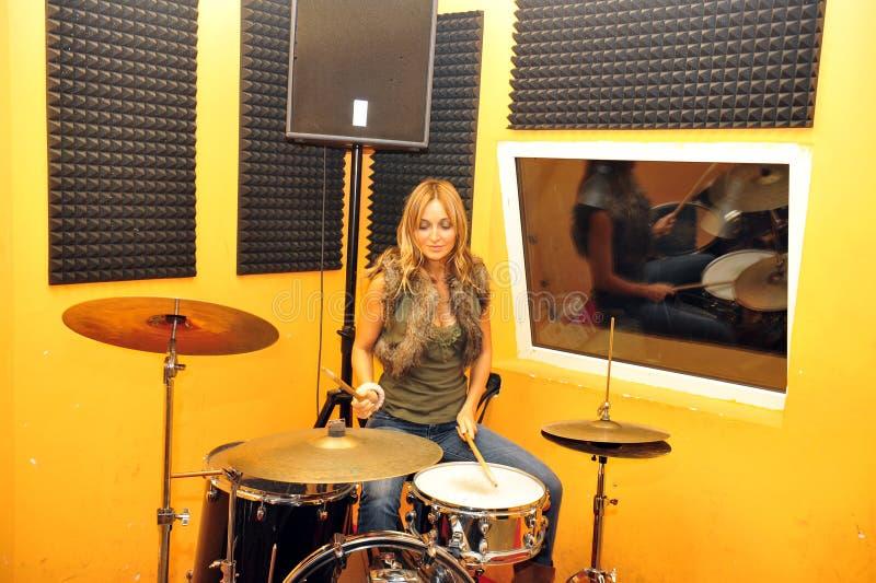 Download Drummer stock image. Image of brunette, beat, performer - 11390703