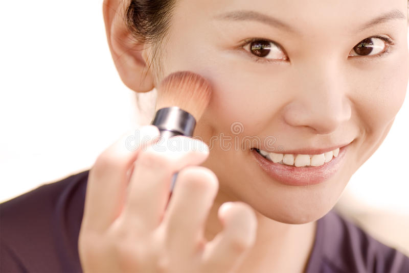 eastern young lady make up stock photography