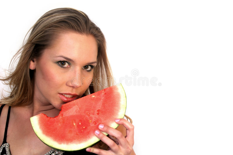 Download Eater stock photo. Image of eating, femininity, watermelon - 1412928