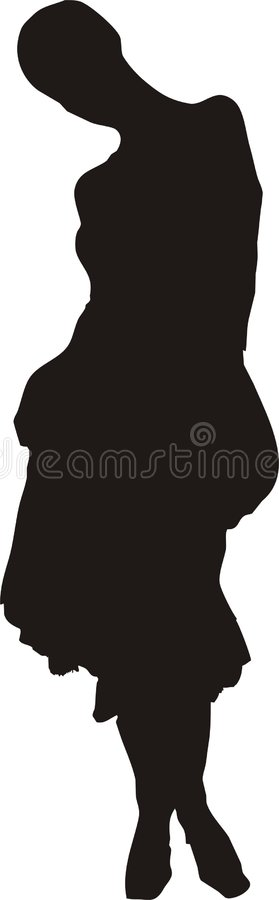 Download Sexy, Elegant Woman In A Pose Silhouette Stock Illustration - Image: 515850