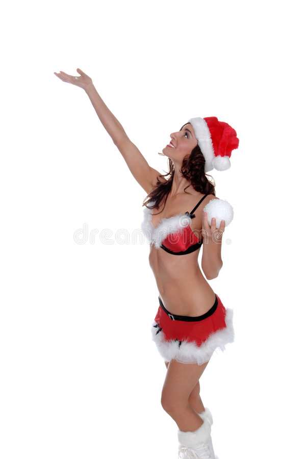 Sexy Elf in de Sneeuw royalty-vrije stock foto's