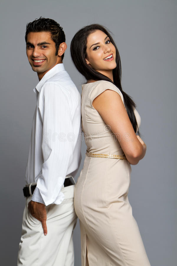 Sexy etnisch paar in liefde royalty-vrije stock foto's
