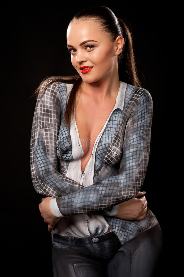 Download Executive Woman With Bodypaint Royalty Free Stock Photos - Image: 25172048
