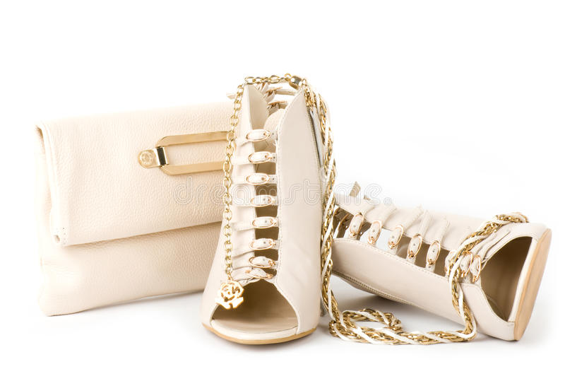 Download Fashionable Shoes, Golden Jewelry Stock Photo - Image: 23956242