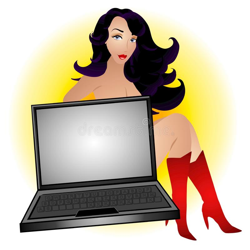 Female Computer Geek royalty free stock photography