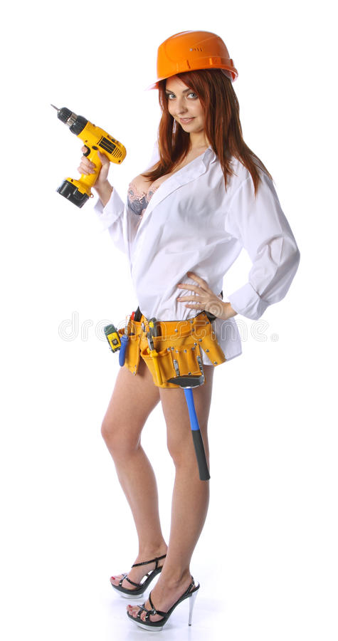 Download Female construction worker stock image. Image of woman - 13527395