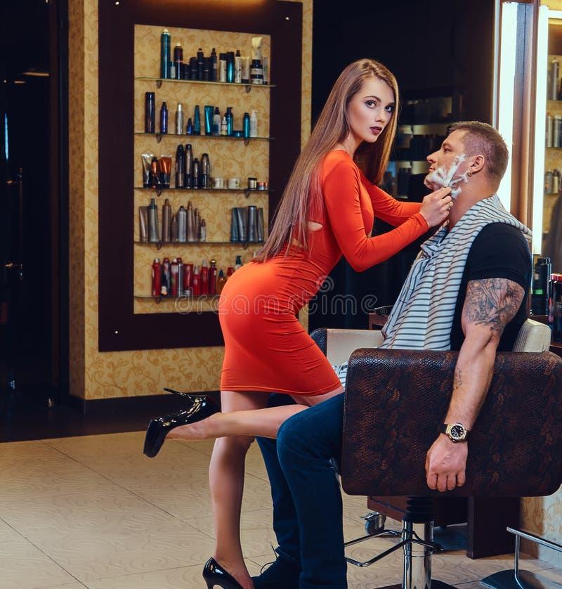 [Imagen: sexy-female-dressed-red-dress-shaving-st...394900.jpg]