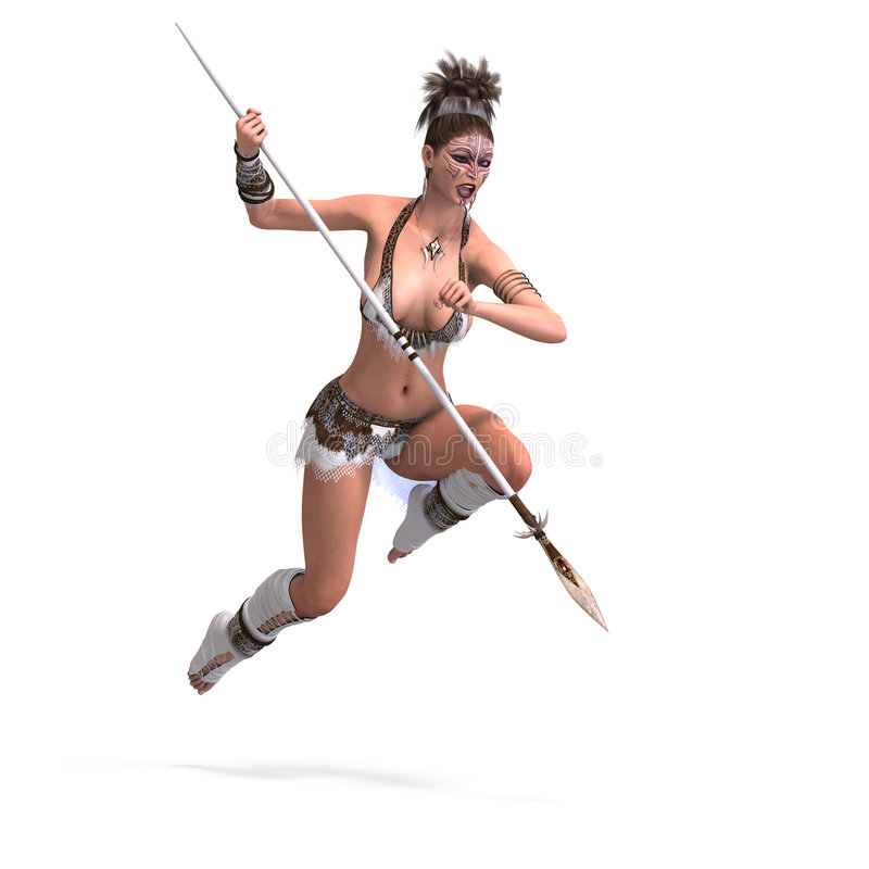 Download Female fantasy Barbarian stock illustration. Image of bounce - 6985755