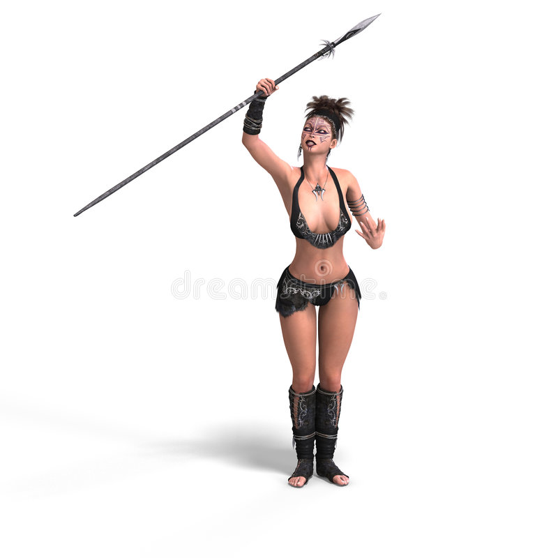 Download Female fantasy Barbarian stock illustration. Image of adoring - 8317117