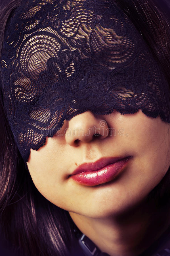 Download Female full lips stock image. Image of mask, eyes, gothic - 22411119