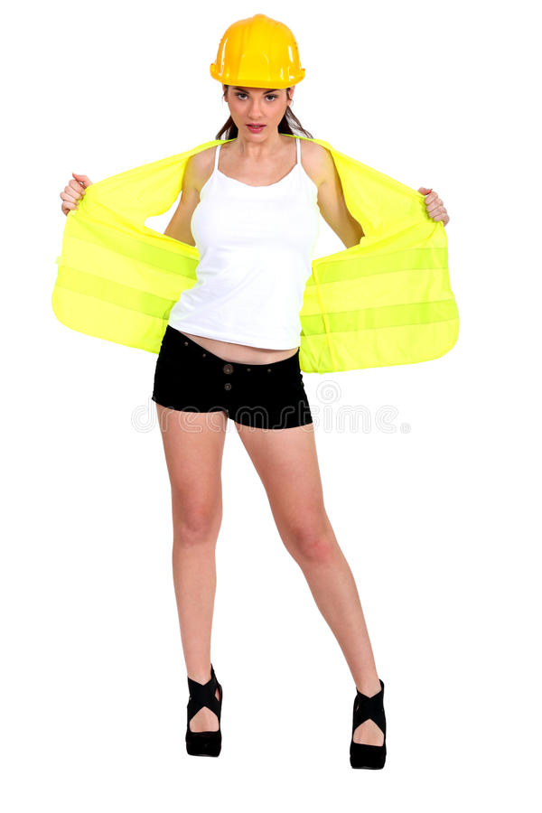 female laborer stripping stock images