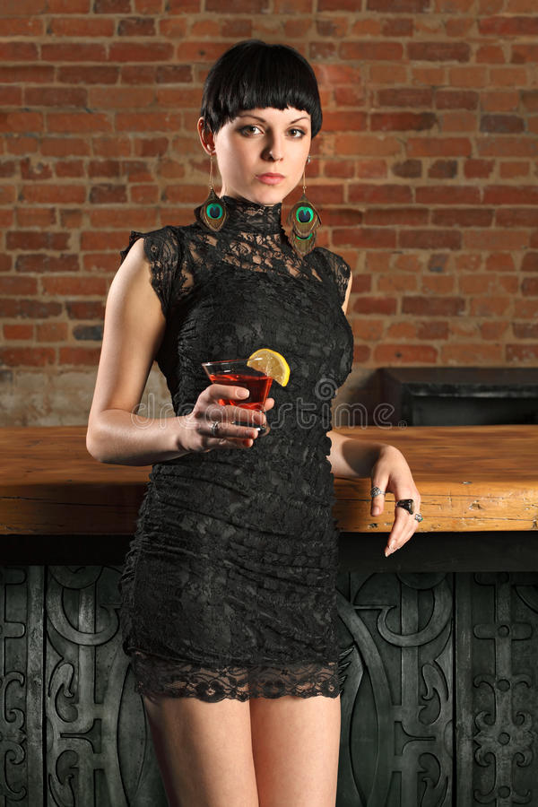 Download Female standing at a bar stock image. Image of woman - 19310559