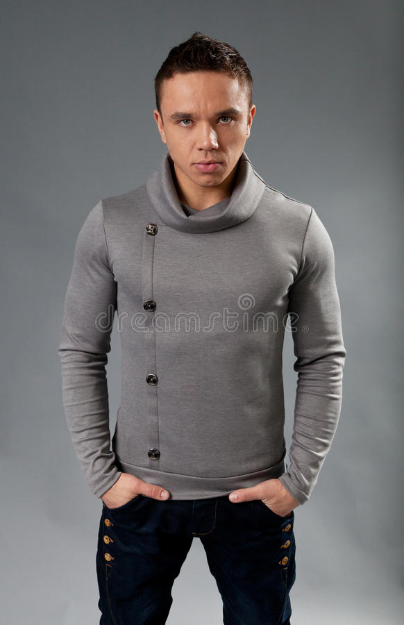Download Fit And Neat Young Man In Studio Stock Image - Image: 23865013