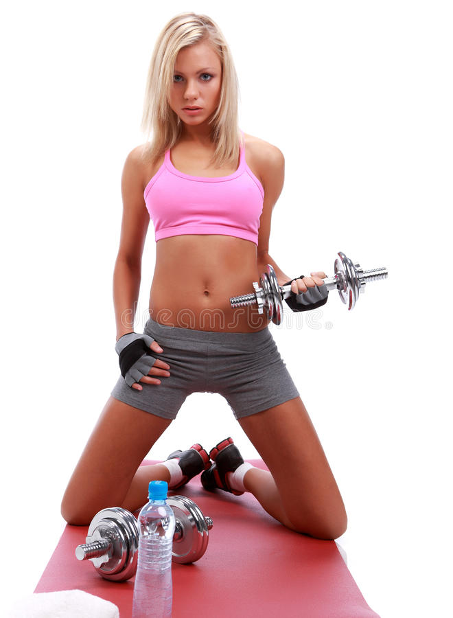 Download Fitness girl stock image. Image of fitness, power, happy - 11737475