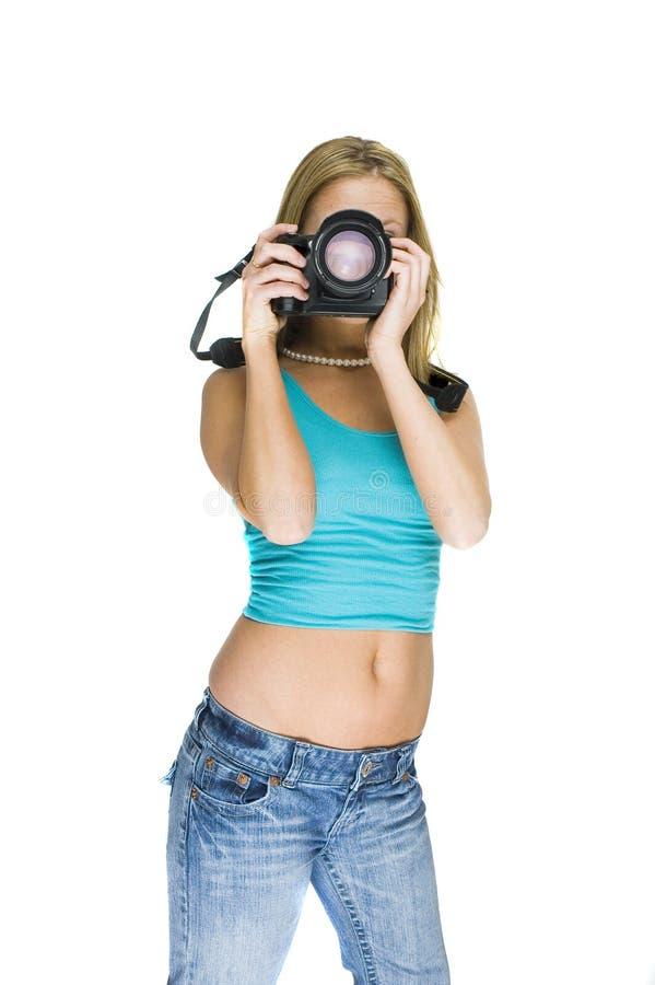 Sexy fotograaf royalty-vrije stock afbeeldingen