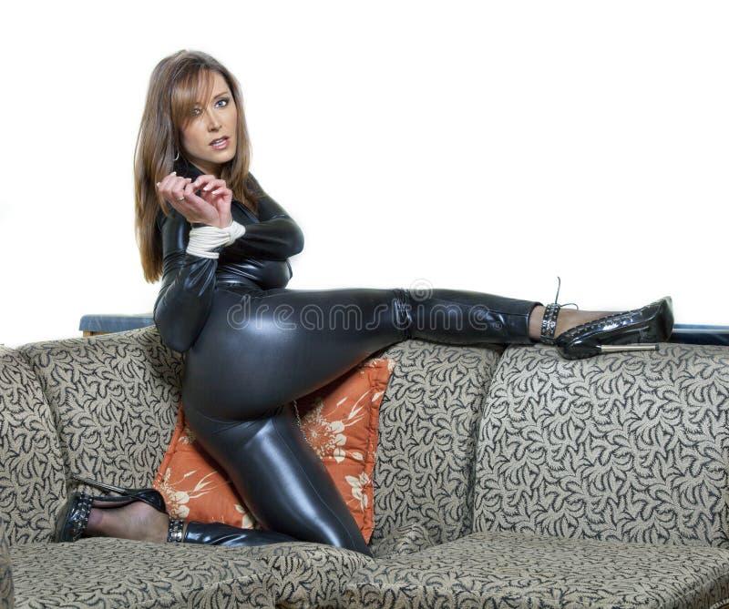 Sexy Frau stockfoto. Bild von schönheit, gebunden