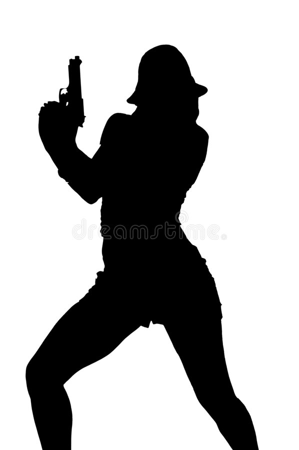 Gangster Silhouette royalty free stock photo