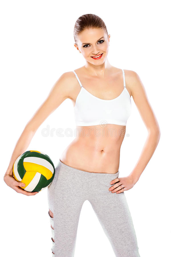 Download Girl with ball stock photo. Image of elegance, caucasian - 23624026