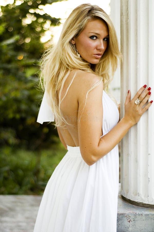 Girl - Blonde Fashion Model stock image