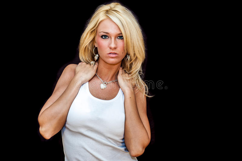 Girl Blonde Fashion Model royalty free stock photos