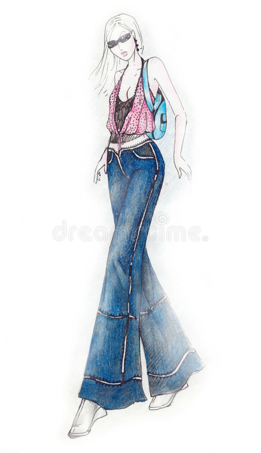 Download Girl Fashion Illustration stock illustration. Image of blond - 9566791