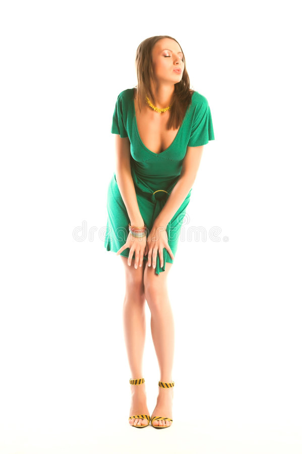 Download Girl in green gown stock photo. Image of luxury, modern - 9311088